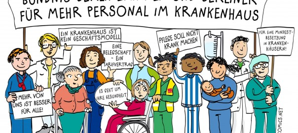 Solidarität ist Lebenswichtig - Bild vom Bündnis für mehr Personal im Krankenhaus
